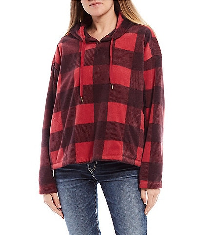 O'Neill Long-Sleeve Hampton Checked Plaid Super Fleece Pullover Hoodie