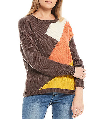 O'Neill Long-Sleeve Perrie Color-Block Pullover Sweater