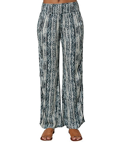O'Neill Printed Johnny Bungalow Straight-Leg Pants