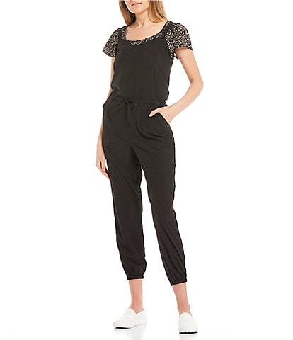 O'Neill Shoulder-Strap Self-Tie Waist Passage Hybrid Jumpsuit