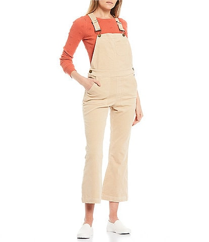 O'Neill Sleeveless Corduroy Cropped Overalls