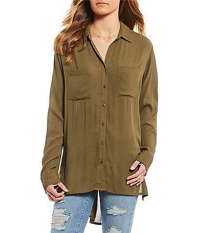 O'Neill Twirl Button Front Top