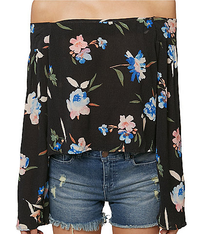 O'Neill Ursa Floral Off-The-Shoulder Top