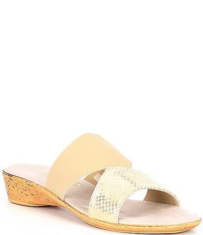 Onex Izabel Cork Wedge Slides
