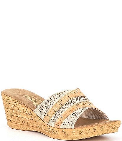 Onex Linen Blanche Cork Sandals