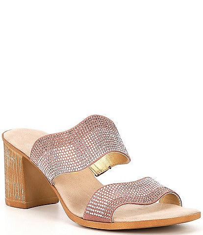 Onex Perla Embellished Leather Slide Sandals