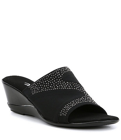 Onex Shadow Embellished Wedge Slides