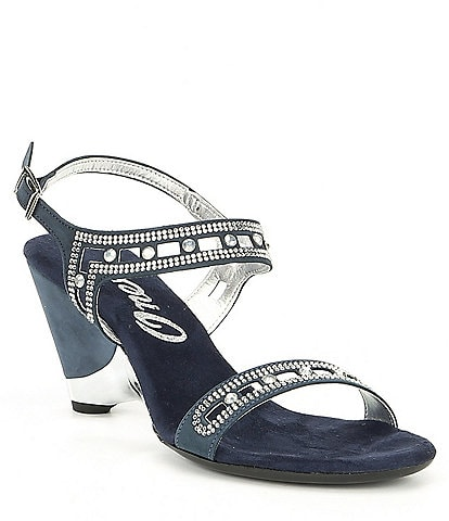 Onex Whitney Leather Jeweled Sandals