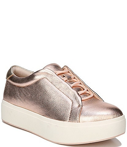 Original Collection by Dr. Scholl's Abbot Lace Metallic Leather Flatform Sneakers