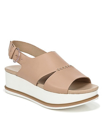 Original Collection by Dr. Scholl's Catch Me Leather Flatform Sandals
