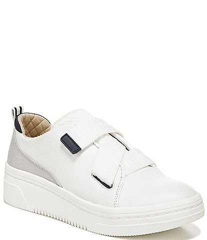 Original Collection by Dr. Scholl's Easygoing Water Resistant Leather And Knit Platform Sneakers