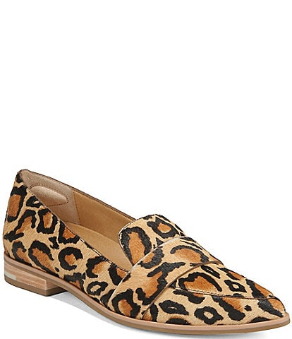 Original Collection by Dr. Scholl's Faxon Leopard Calf Hair Leather Loafers