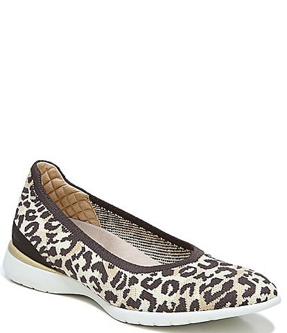 Original Collection by Dr. Scholl's Jayla Knit Leopard Print Wedge Slip-Ons