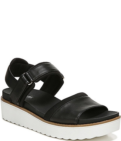 Original Collection by Dr. Scholl's Meet Up Leather Platform Wedge Sandals
