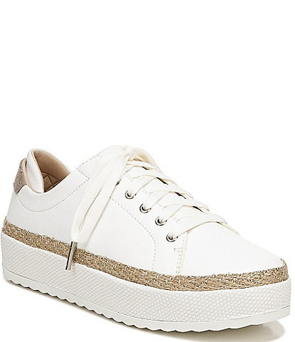 Original Collection by Dr. Scholl's Mellow Out Leather Espadrille Rope Detail Platform Sneakers