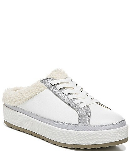 Original Collection by Dr. Scholl's Mellow Water Resistant Leather Faux Shearling Sneaker Mules