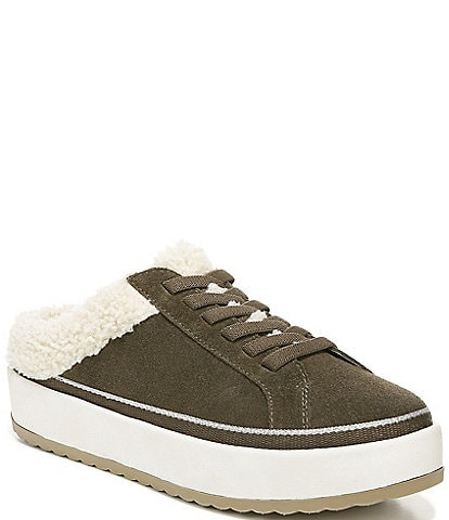 Original Collection by Dr. Scholl's Mellow Water Resistant Suede Faux Shearling Sneaker Mules