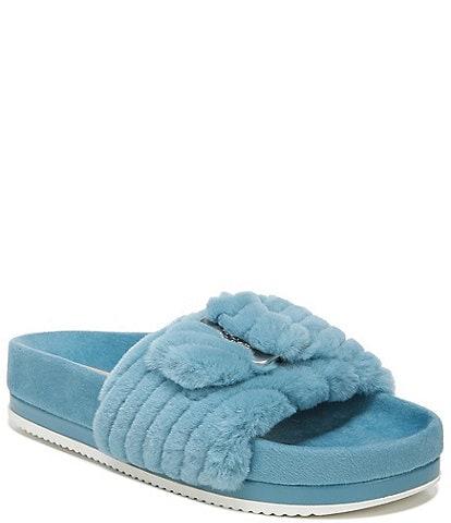 Original Collection by Dr. Scholl's OG Faux Fur Buckle Detail Slide Sandals