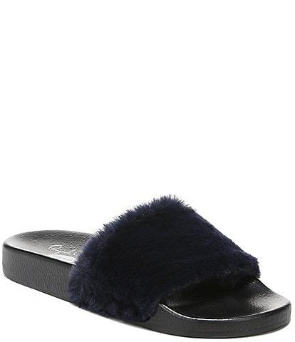 Original Collection by Dr. Scholl's Pisces Cozy Faux Fur Slides
