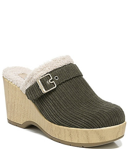 Original Collection by Dr. Scholl's Pixie Corduroy Faux Shearling Lined Clogs