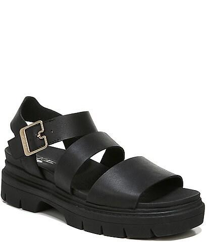 Original Collection by Dr. Scholl's Trekkie Leather Platform Sandals