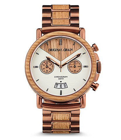 Original Grain Alterra Chronograph 44mm Whiskey Barrel Wood Watch