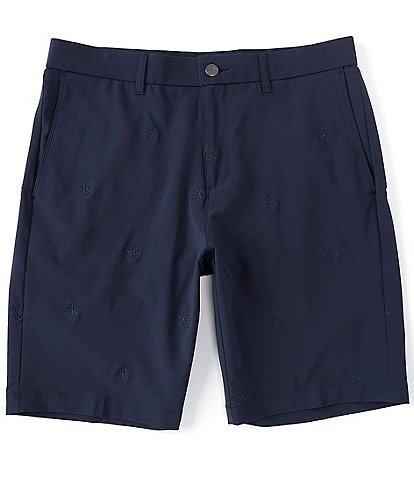 Original Penguin 9#double; Inseam Allover Pete Embroidered Golf Shorts