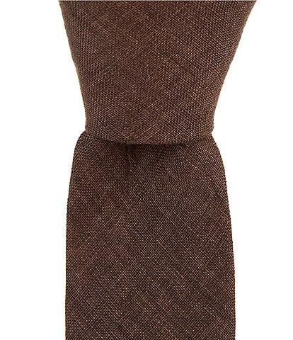 Original Penguin Berger Solid Skinny 2 1/2#double; Cotton Tie