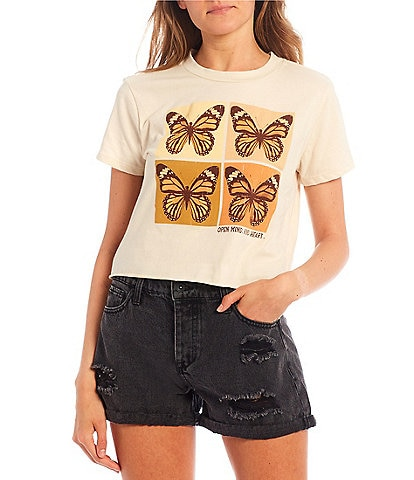 Originality Butterfly Graphic Boxy Tee