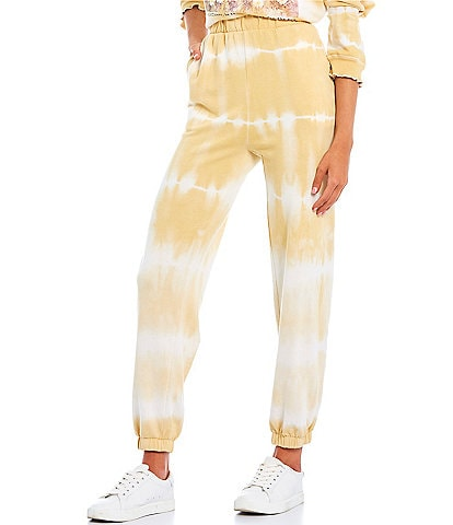 Originality Coordinating Tie-Dye French Terry Jogger Pants