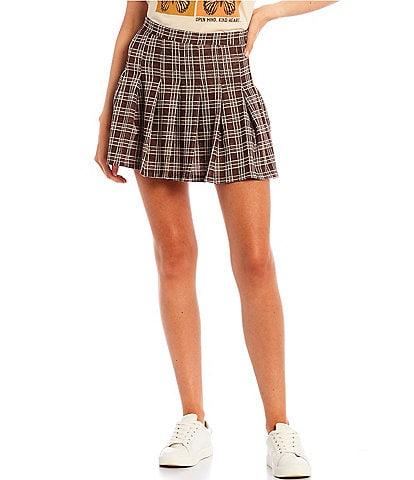 Originality Plaid Pleated Cheerleader Skirt