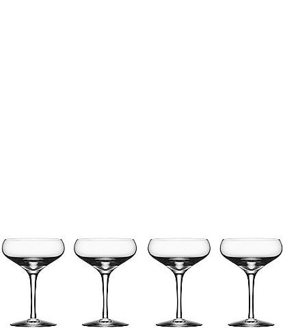 Orrefors Crystal More Coupe, Set Of 4