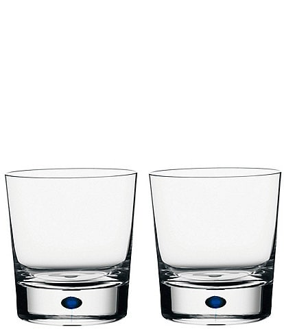 Orrefors Intermezzo Blue Drop Double Old Fashioned Glass, Set of 2