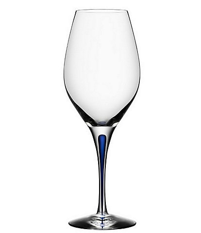 Orrefors Intermezzo Blue Drop Wine Glass