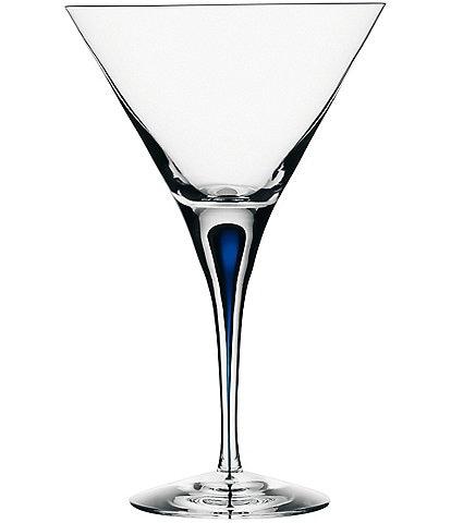 Orrefors Intermezzo Blue Martini Glass