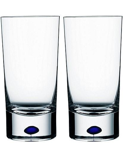 Orrefors Intermezzo Blue Tumbler, Pair