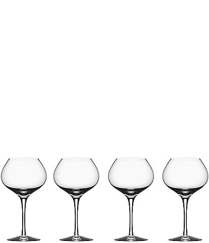 Orrefors More Mature Set of 4 Crystal Wine Glass