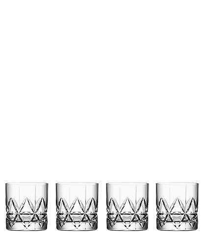 Orrefors Peak Old Fashioned Glass, Set of 4