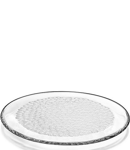 Orrefors Pearl Round Crystal Platter