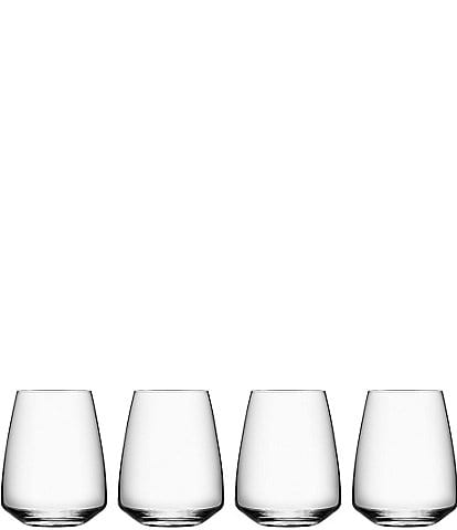 Orrefors Pulse Stemless Wine Glass, Set of 4