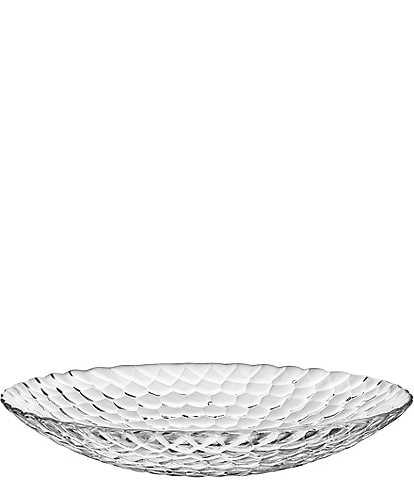 Orrefors Raspberry Crystal Serving Plate