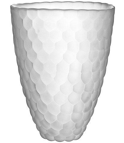 Orrefors Raspberry Frost Vase