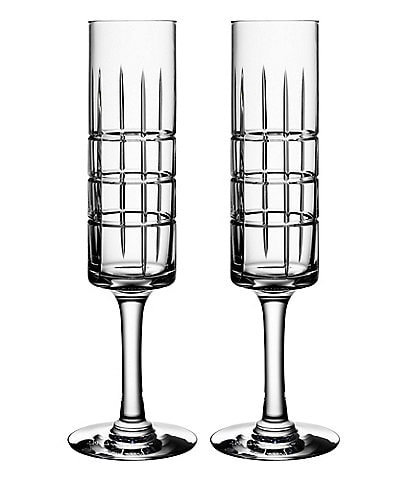Orrefors Street Champagne Glass, Set of 2