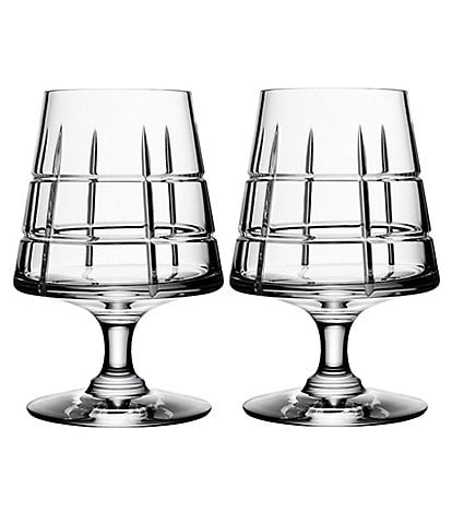 Orrefors Street Crystal Cognac Glass, Set of 2