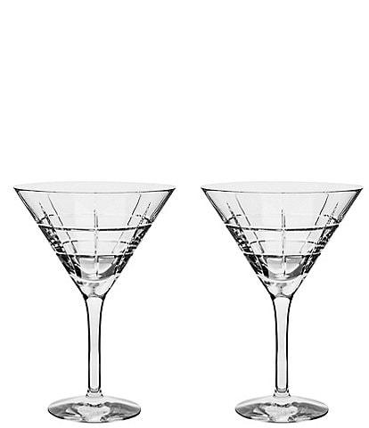 Orrefors Street Martini Glass, Set of 2