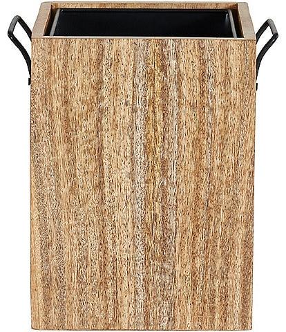 Oscar/Oliver Mason Wooden Handled Wastebasket