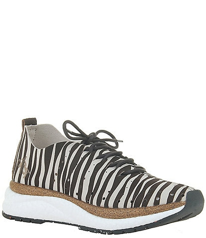 OTBT Alstead Perforated Zebra Print Suede Sneakers
