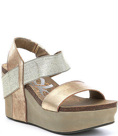 OTBT Bushnell Leather Platform Wedges