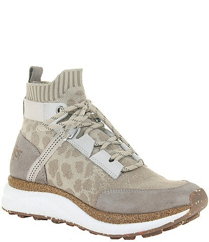 OTBT Hybrid Animal Print Knit High Top Sneakers