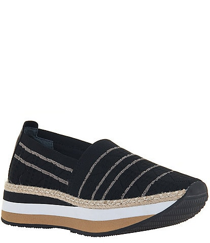 OTBT Islander Striped Platform Espadrille Wedge Sneakers